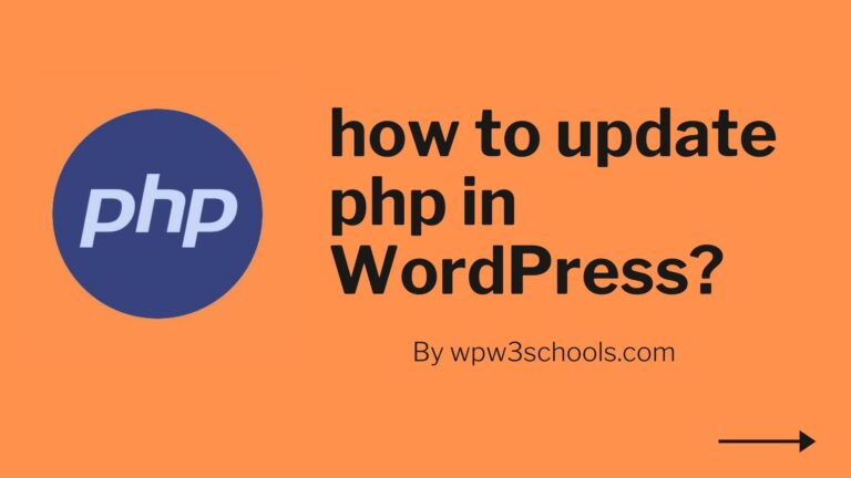 how to update php in WordPress WPw3schools Plugins and Themes