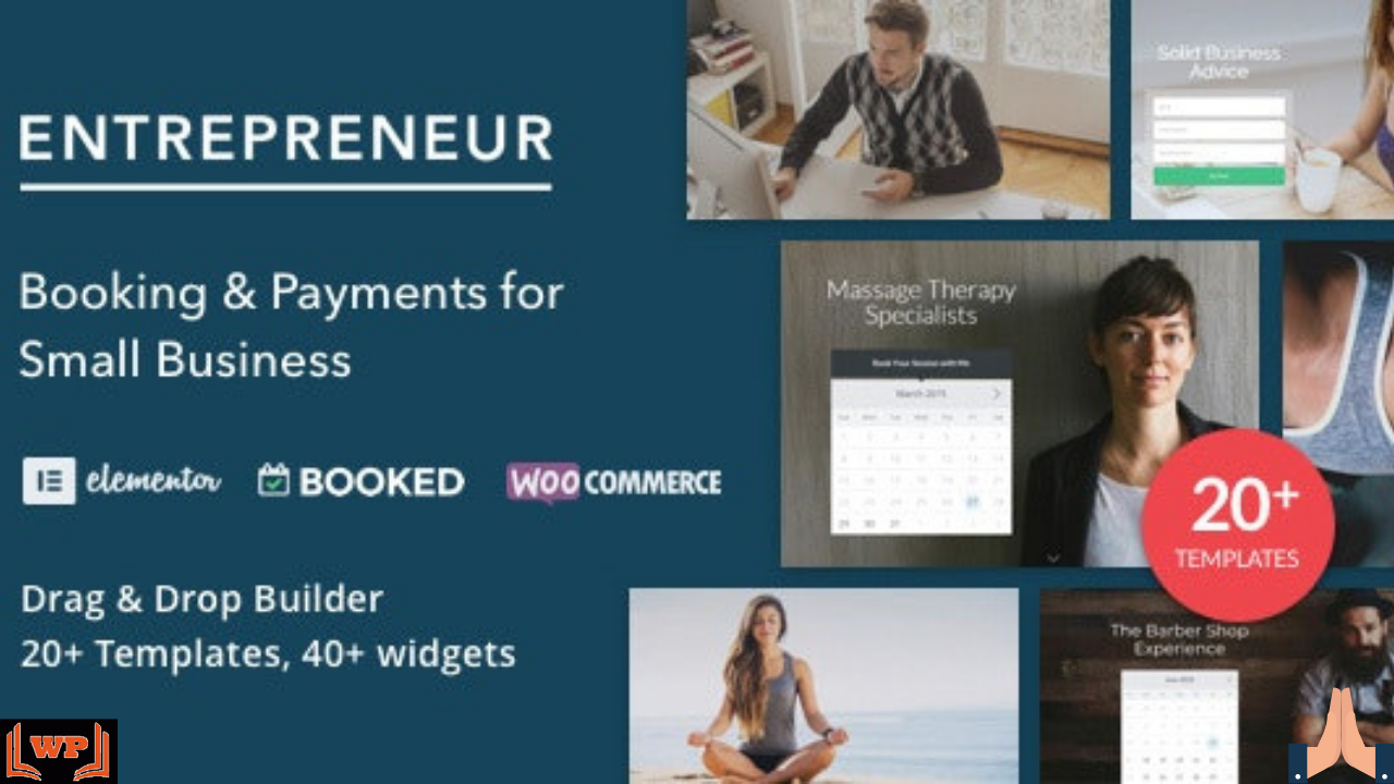 Entrepreneur Nulled Download v2 – Booking for Small Businesses WPw3schools Plugins and Themes