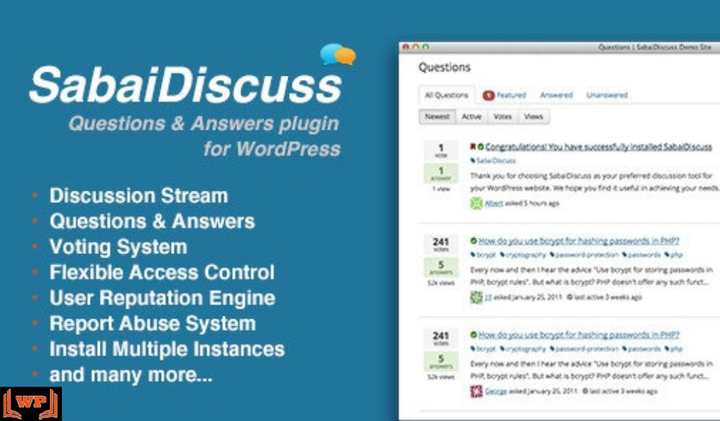 Sabai Discuss Plugin Free Download v.1.4.10 for WordPress WPw3schools Plugins and Themes