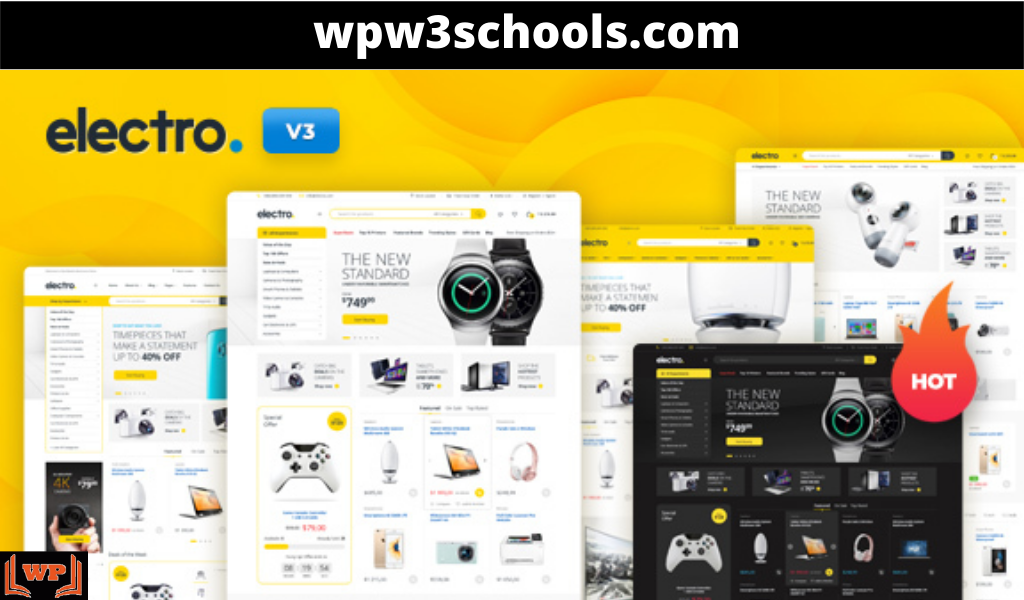 Electro WooCommerce Theme v3.1.3 Free Download GPL WPw3schools Plugins and Themes