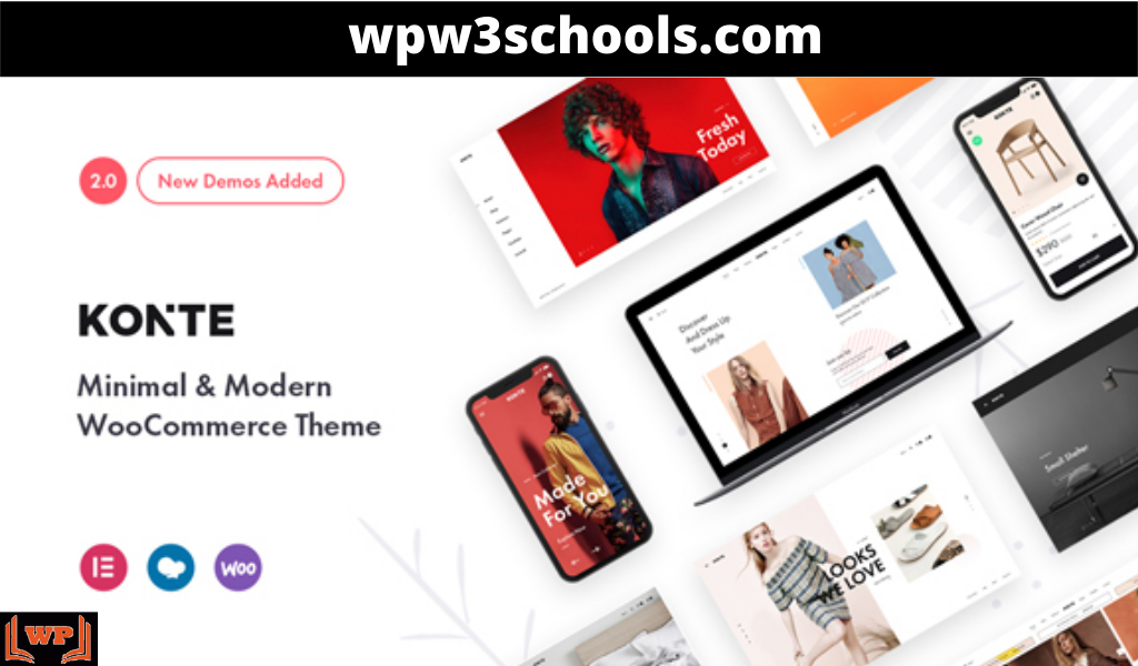 Konte Woocommerce Theme Free Download WPw3schools Plugins and Themes
